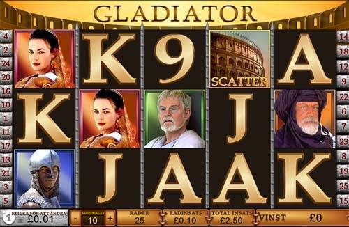Gladiator Videoslot Screenshot