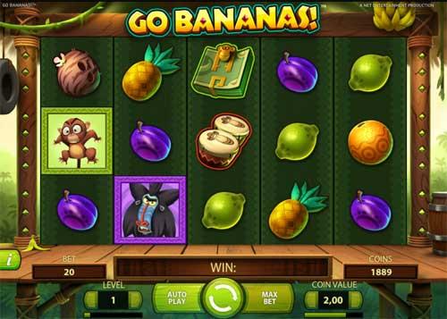 Go Bananas Videoslot Screenshot