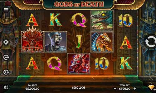 Gods of Death Videoslot Screenshot