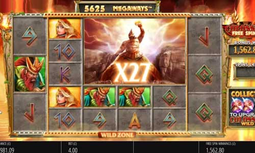 Gods of Olympus Megaways Videoslot Screenshot