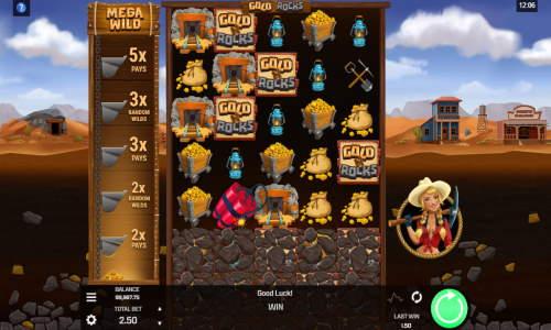 Gold N Rocks Videoslot Screenshot
