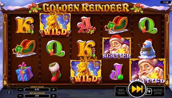 Golden Reindeer Videoslot Screenshot