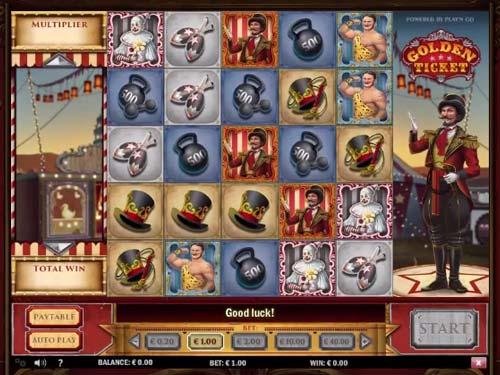 Golden Ticket Videoslot Screenshot