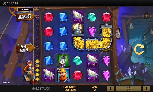 Goldstruck Videoslot Screenshot