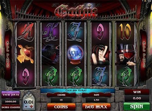 Gothic slot free play demo