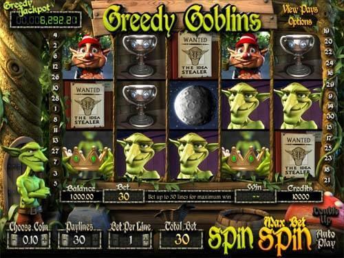 Greedy Goblins Videoslot Screenshot