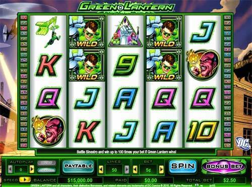 Green Lantern slot free play demo