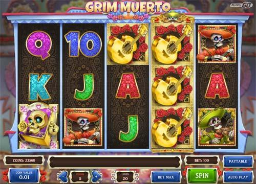 Grim Muerto Videoslot Screenshot