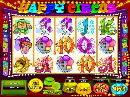 Happy Circus Slot - Play Online for Free or Real Money