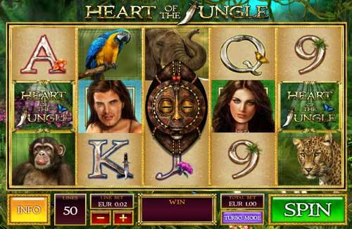 Heart of the Jungle Videoslot Screenshot