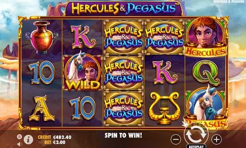 Hercules and Pegasus Videoslot Screenshot