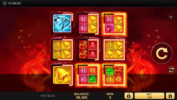 Hot Blox Videoslot Screenshot
