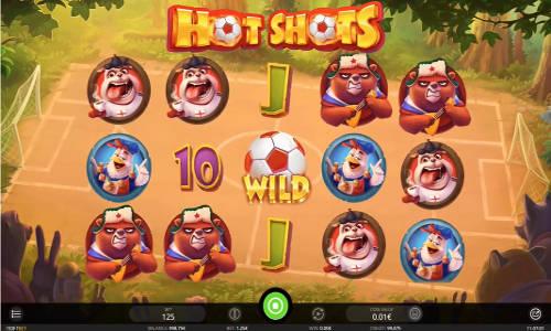 Hot Shots Videoslot Screenshot