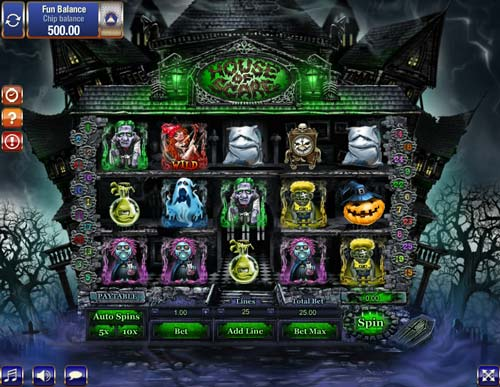 House of Scare slot Games OS