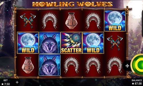 Howling Wolves slot free play demo