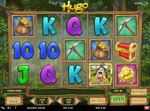 Hugo Videoslot Screenshot