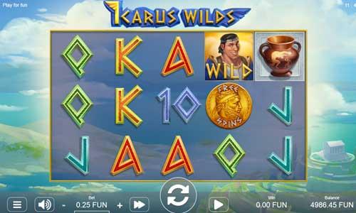 Icarus Wilds Videoslot Screenshot