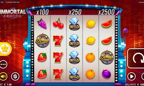 Immortal Fruits Videoslot Screenshot