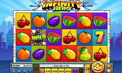 Infinity Hero Videoslot Screenshot