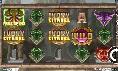 Ivory Citadel Videoslot Screenshot