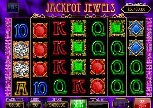Jackpot Jewels Videoslot Screenshot