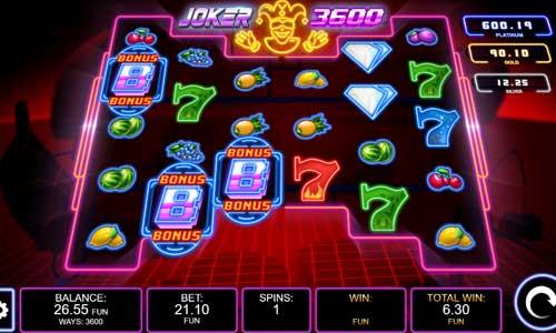 Joker 3600 Videoslot Screenshot
