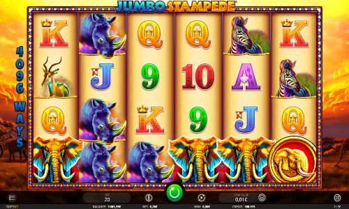Jumbo Stampede Videoslot Screenshot