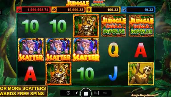 Jungle Mega Moolah Videoslot Screenshot