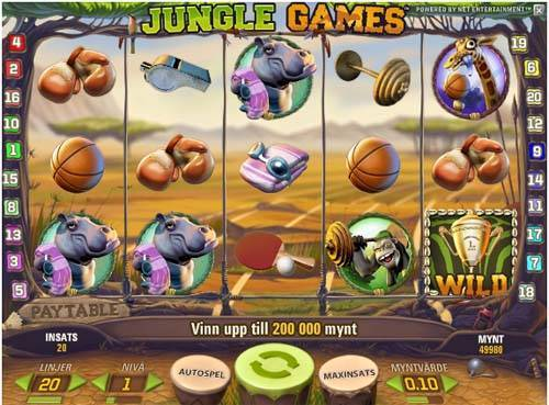 Jungle Games slot free play demo is not available.