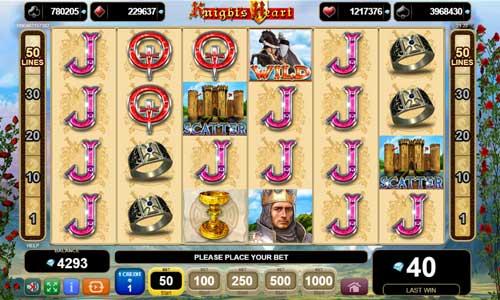 Knights Heart Videoslot Screenshot