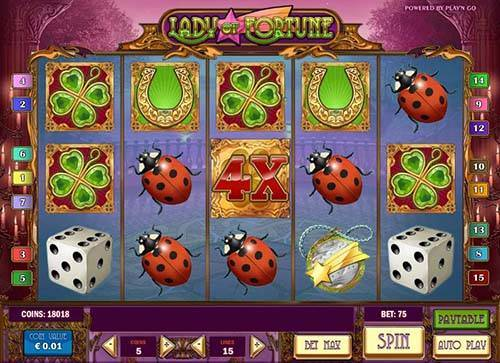 Lady of Fortune Videoslot Screenshot