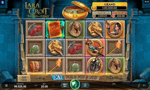 Lara Croft Temples and Tombs Videoslot Screenshot