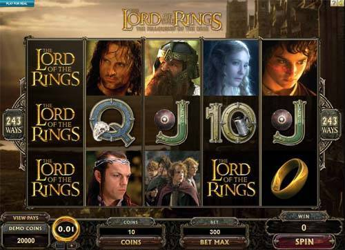 Lord of the Rings Jackpot slot free play demo