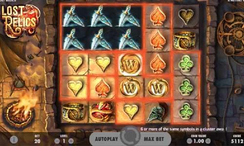 Lost Relics Videoslot Screenshot