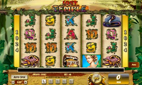 Lost Temple slot free play demo