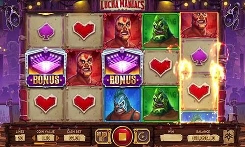 Lucha Maniacs Videoslot Screenshot
