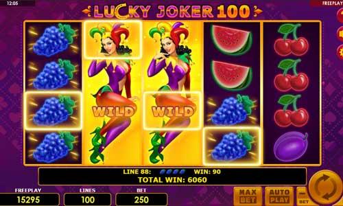 Lucky Joker 100 Videoslot Screenshot