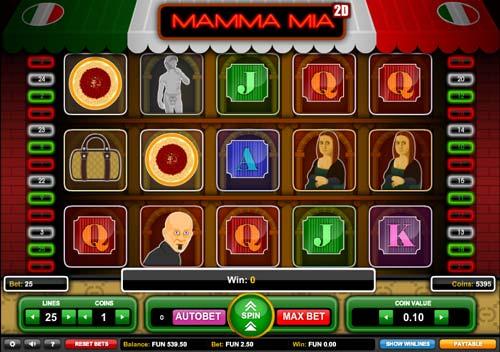 Mamma Mia 2D slot
