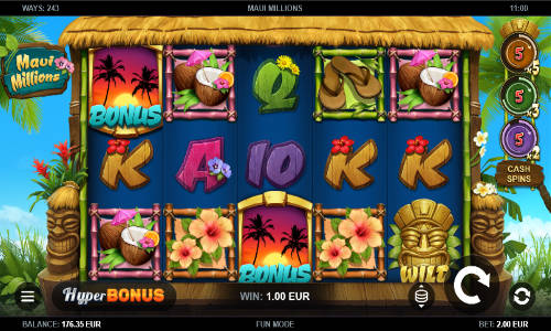 Maui Millions Videoslot Screenshot