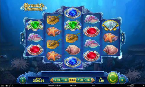 Mermaids Diamond Videoslot Screenshot