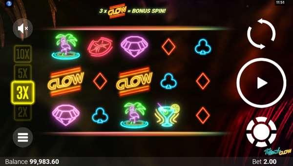 Miami Glow Videoslot Screenshot