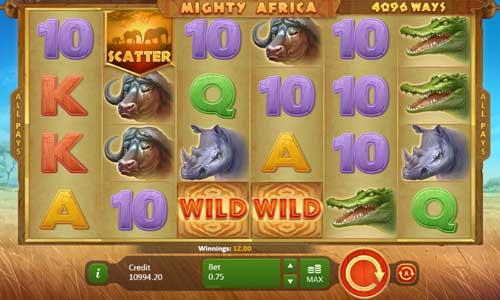 Mighty Africa Videoslot Screenshot