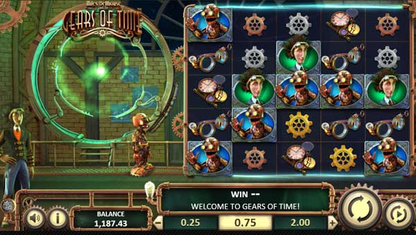 Miles Bellhouse and the Gears of Time Videoslot Screenshot