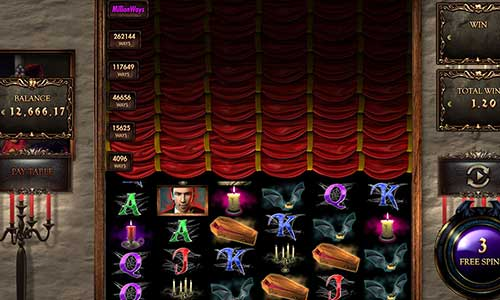 million dracula slot overview and summary