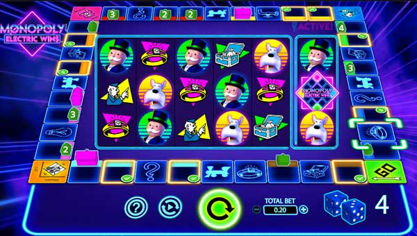 Monopoly Electric Wins Videoslot Screenshot