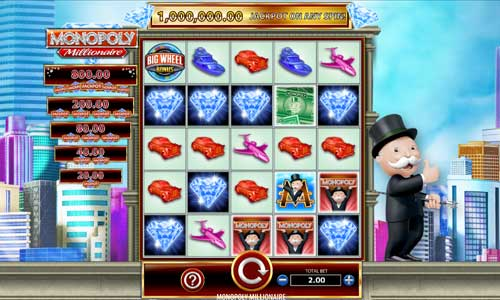 Monopoly Millionaire Videoslot Screenshot