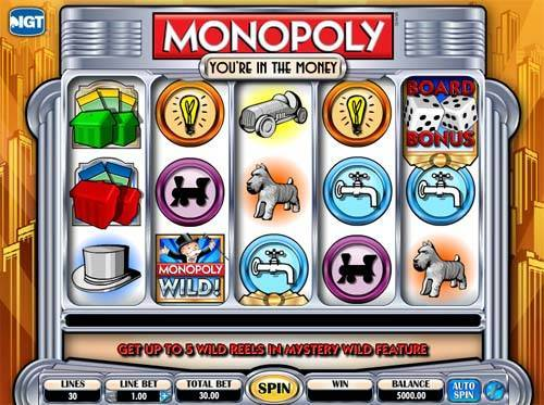 Monopoly In The Money slot free play demo
