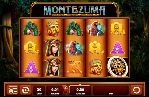 Montezuma Videoslot Screenshot