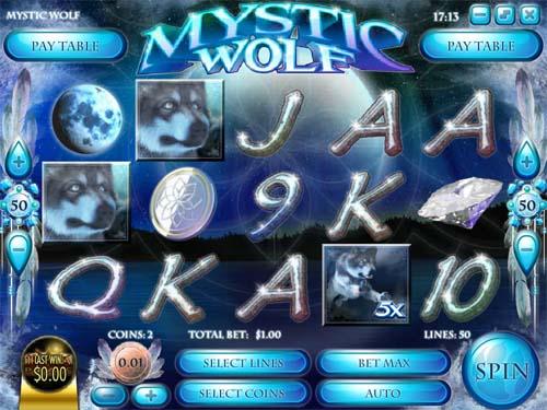 Mystic Wolf Videoslot Screenshot