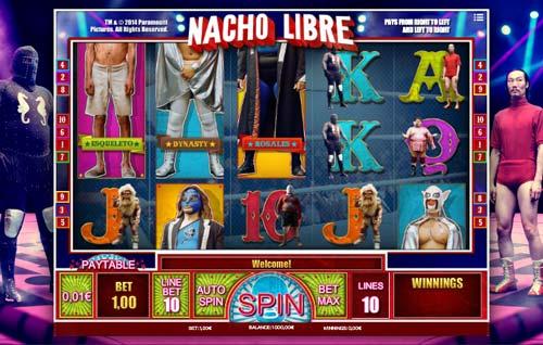 Nacho Libre Videoslot Screenshot